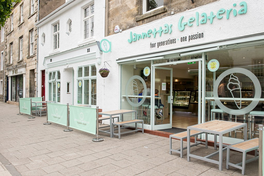 The Gelateria is a popular St Andrews haunt