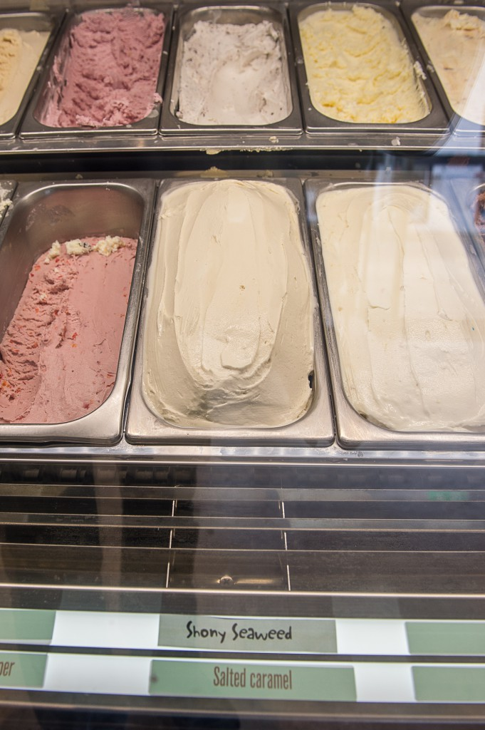 The ice cream uses seaweed gathered from nearby beaches