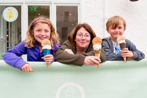 """Mum Linda said the ice cream was """"quite enjoyable"""""""