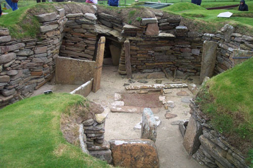 The team visited Orkney to take photographs of the site