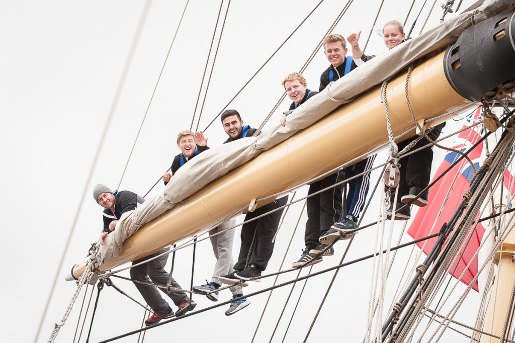 Apprentices in the rigging