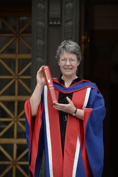 She joined hundreds of students at a ceremony at Edinburgh Napier