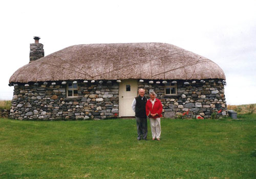 The property is thought to be the only replica of a traditional blackhouse
