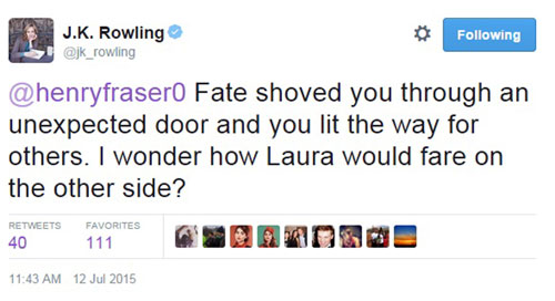 Rowling stood up for the ex-rugby star on social media