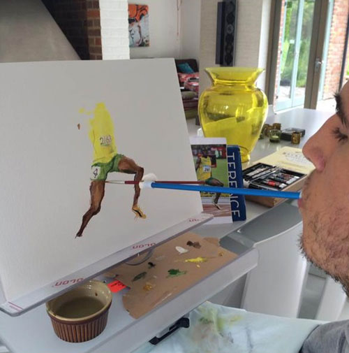 Henry is able to create amazing drawings using just his mouth