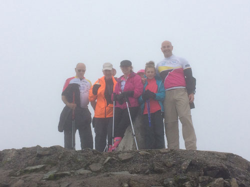 The team at the summit