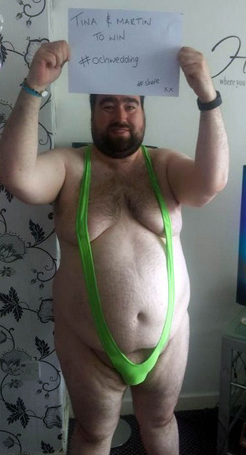 His mankini picture went viral and was retweeted around the world