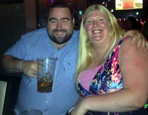 Martin with his fiancee Tina Gibson