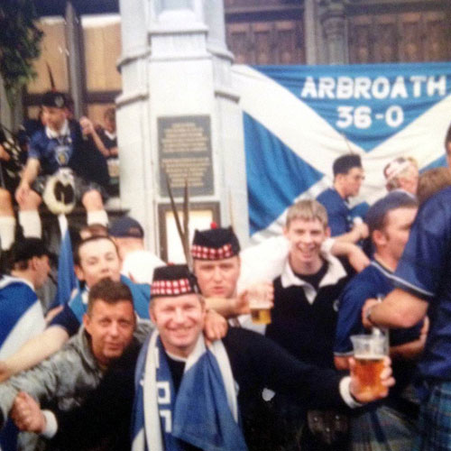 The flag at another match roughly 13 years ago