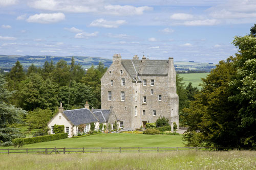 The Kinross-shire castle boasts stunning views