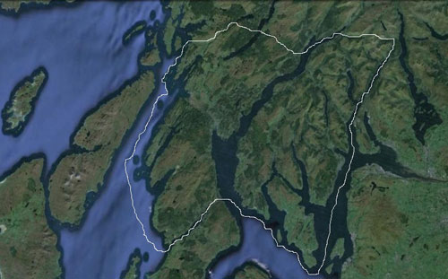 The area where the Dalriada dialect was spoken