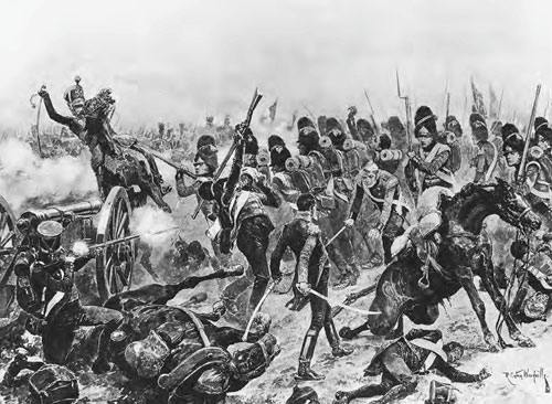 The Battle of Salamanca, where many of the French soldiers were captured