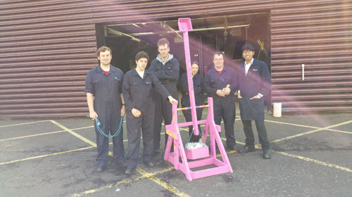 The students with the trebuchet