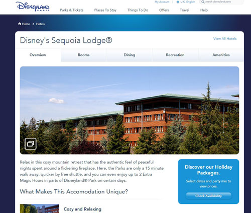 The Disneyland lodge where two carers and a young person stayed (Pic: Disneyland Paris)