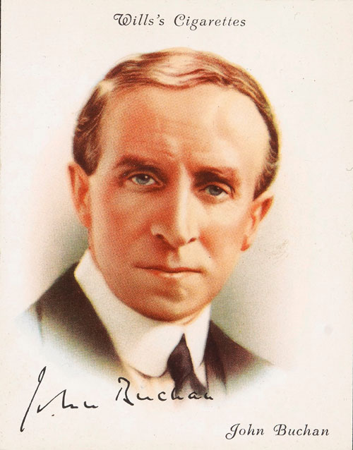 John Buchan depicted on a cigarette card
