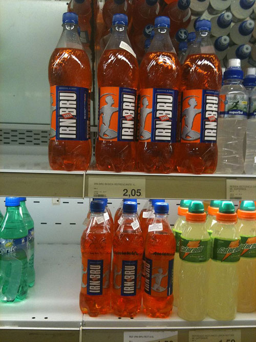 He used to drink several big bottles of Irn Bru a day (Picture: Andy Mitchell)