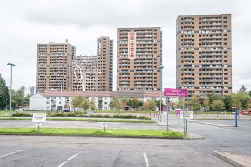 The flats had been the scene of several police drug raids and even a murder. (c) Wullie Marr/DEADLINE NEWS
