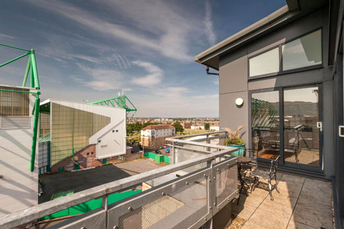 The penthouse apartment is on the market for £200,000