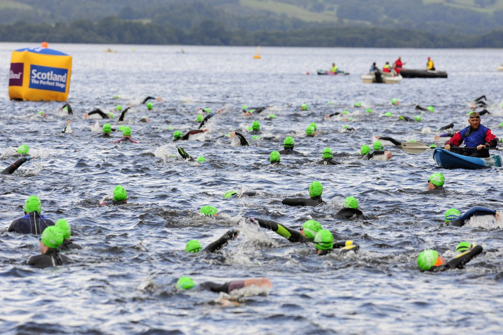 Loch swimming is increasing in popularity