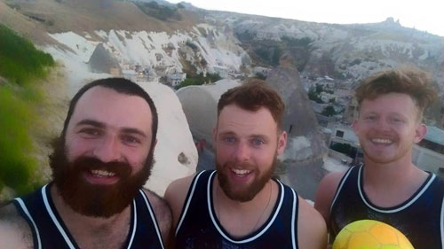 Muir, Dave and Josh in Turkey before the incident