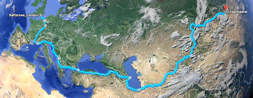 A map shows the route the boys took