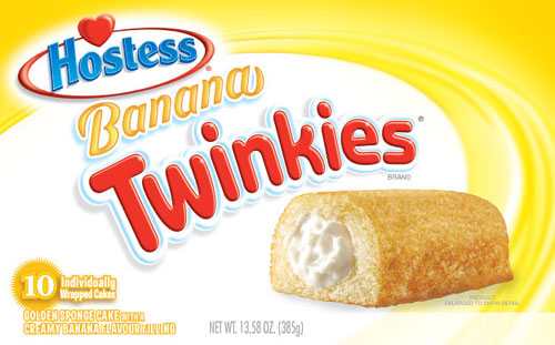 Twinkies are now also available in banana