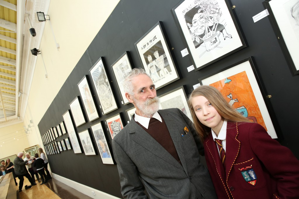 John Byrne with last year's 1st prize winner Anushka Waugh Glover