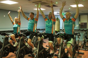 The four fundraisers have been training ready for the cycle.