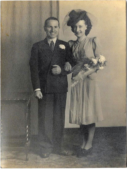 Neil and Margaret on their wedding day