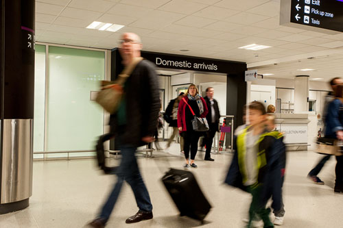 Despite the Monday morning Air Traffic Control system failure, Edinburgh airport showed no significant signs of disruption IN PIC................. (c) Wullie Marr/DEADLINE NEWS For pic details, contact Wullie Marr........... 07989359845