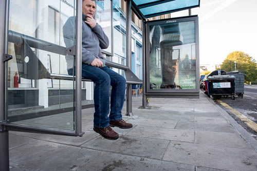 The new shelters have left commuters with their feet dangling
