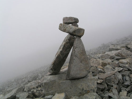 One of the mini cairns on Ben Nevis (Pic: Ghisan)