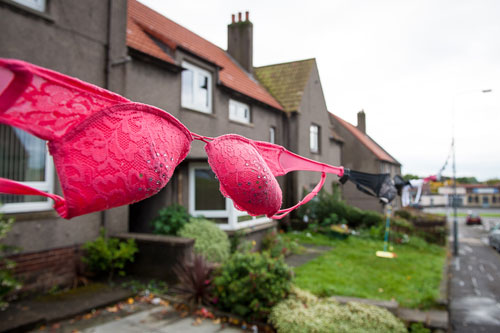 The council threatened to remove the bra bunting