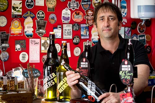 Stuart Dinning opened the first Growler Beers shop two years ago