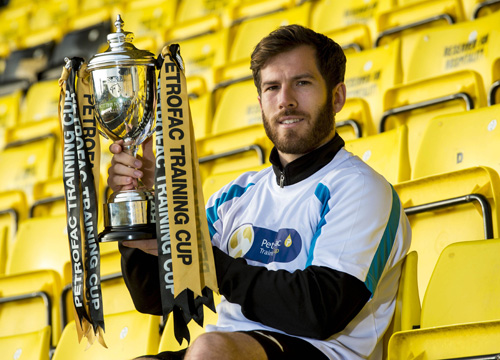 19/10/15 TONY MACARONI ARENA - LIVINGSTON Livingston's Liam Buchanan previews his side's forthcoming Petrofac Training Cup Quarter-Final match against Rangers