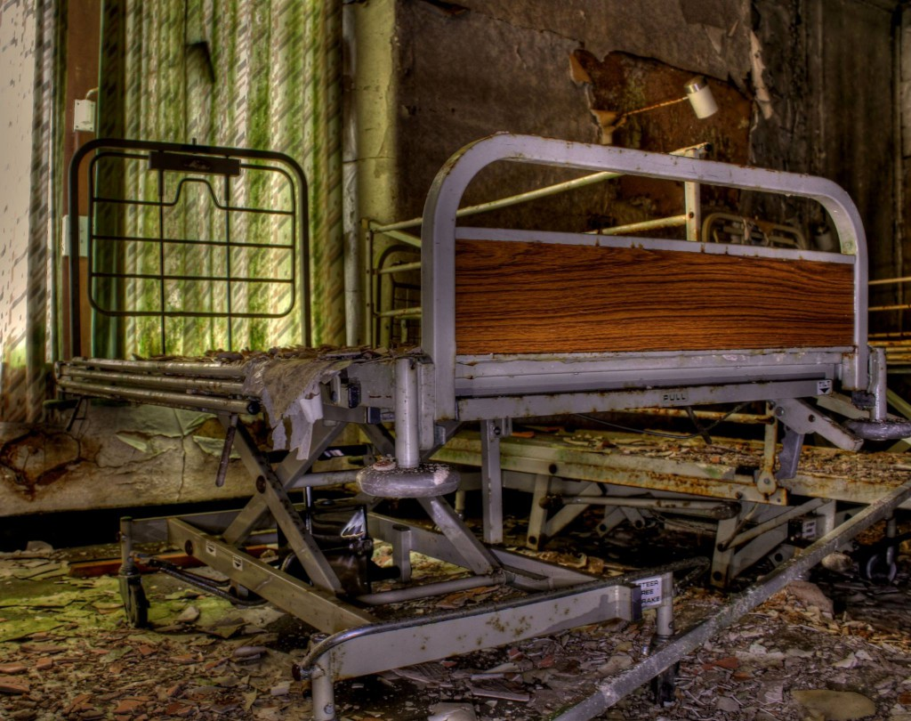 Picture of a collapsed hospital bed- Viral News Scotland