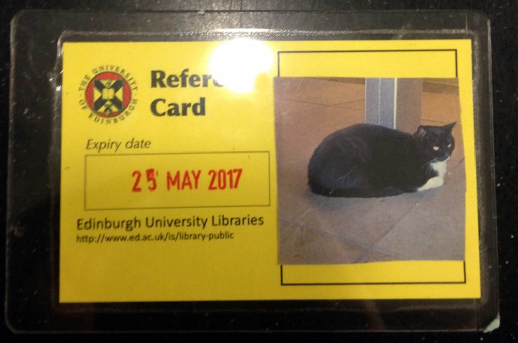 He is so popular with students he even has his own library card