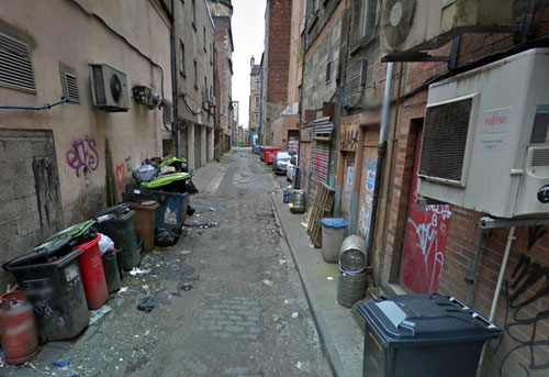 Sauchiehall Lane, where the incident happened