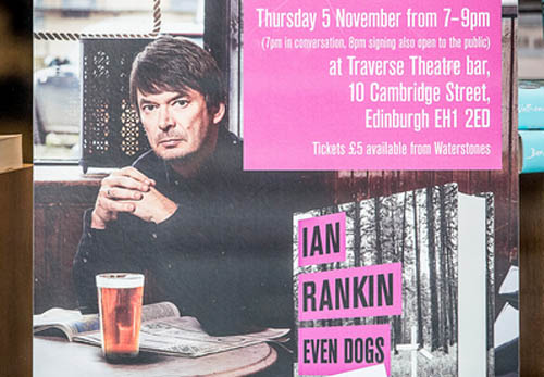 Rankin is touring after the release of his new book