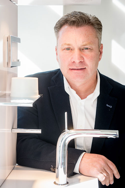 Ronnie Scott, the owner of Boscolo bathrooms