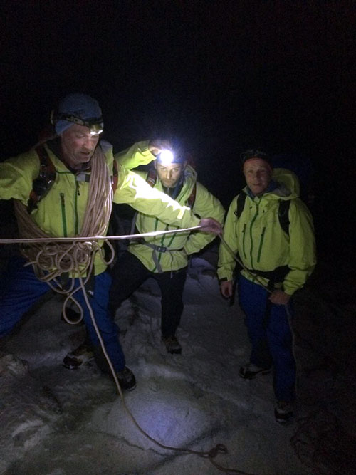 The mountain rescue team out looking for the pair