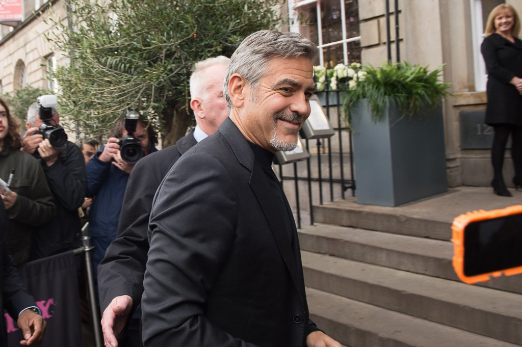 Clooney was mobbed when he visited the city last month