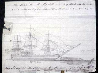 A sketch of the sinking of the Essex