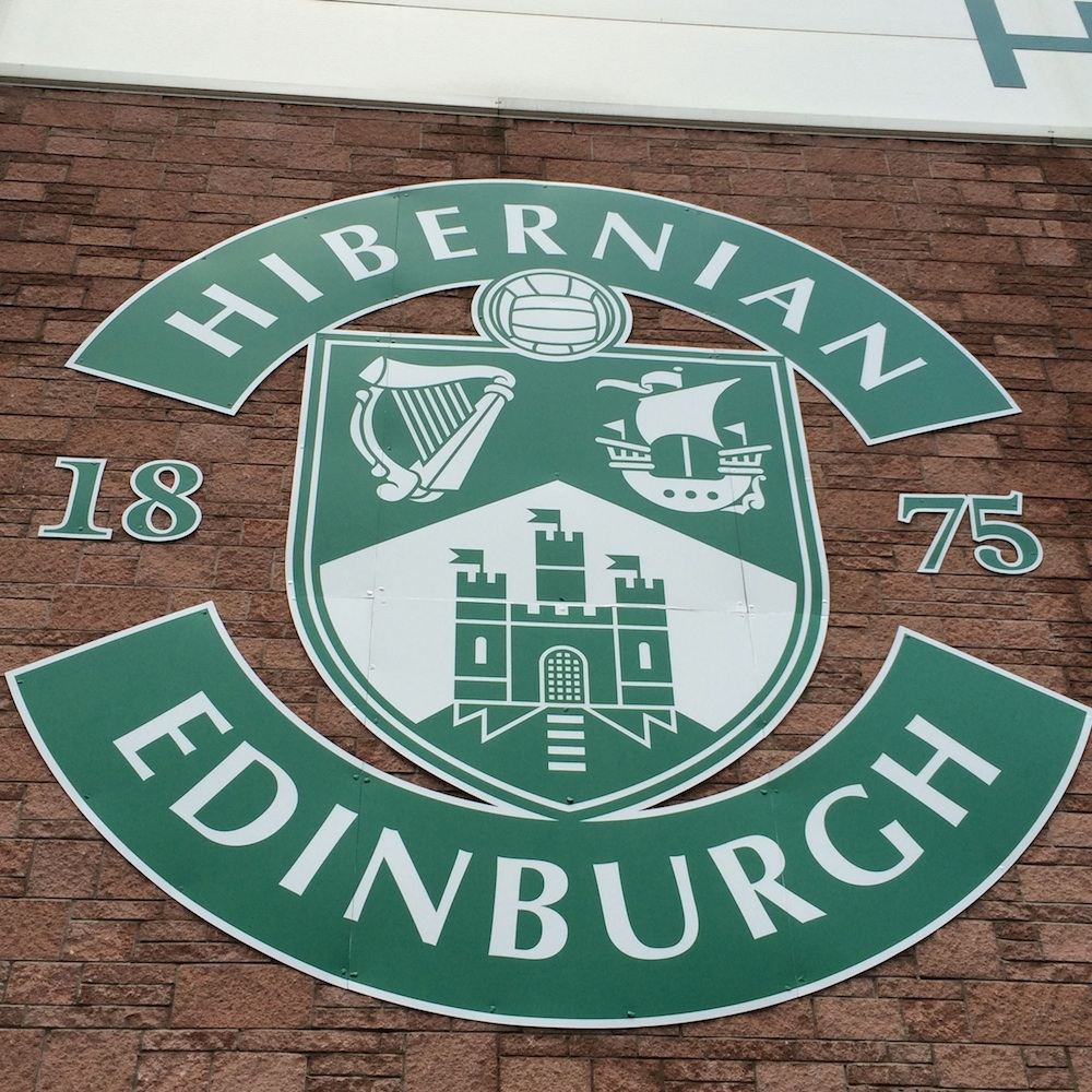 Hibs badge stadium