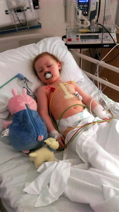Lidija after her operation