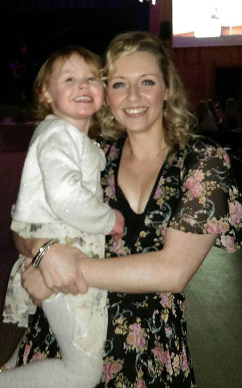 A recent photo of Lidija with her mum Emma