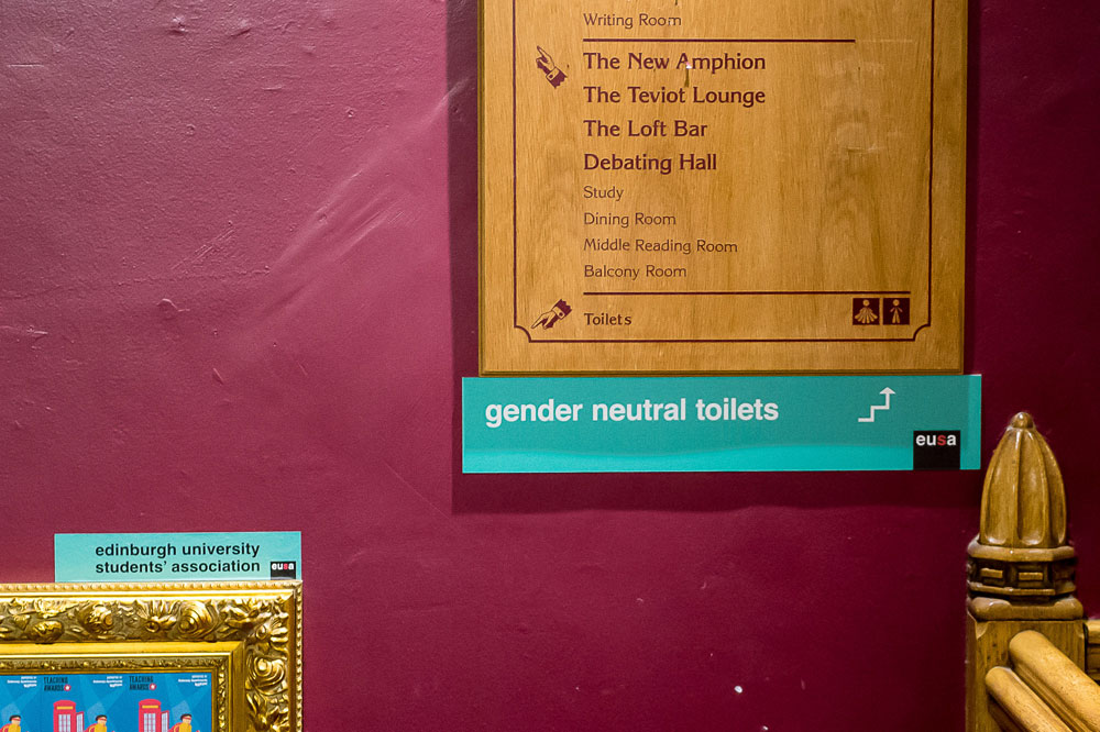 "The toilets are part of a bid to tackle ""gender policing"""