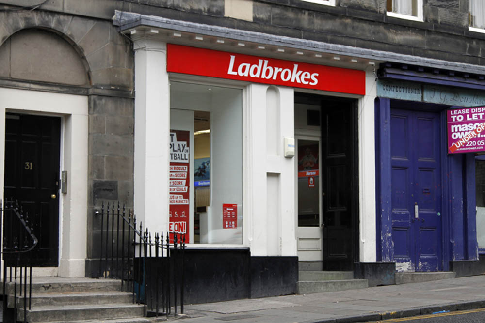 The mystery man won big at his local Ladbrokes