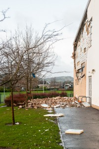Edinburgh rush hour was thrown into chaos as Storm Gertrude hit Scotland. IN PIC................. Oxgang Primary School, Edinburgh, closed due nto severe damage. (c) Wullie Marr/DEADLINE NEWS For pic details, contact Wullie Marr........... 07989359845