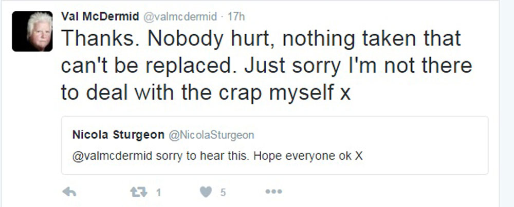 Nicola Sturgeon expressed her sympathies